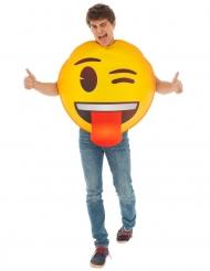 Blinkande Emoji™ vuxendräkt