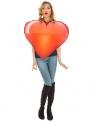Emoji™ Hjärta vuxendräkt