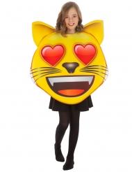 Emoji™ katt med hjärtögon barn