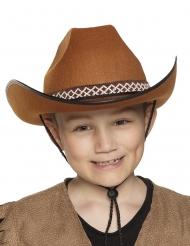 Brun cowboyhatt barn