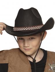 Svart cowboyhatt barn