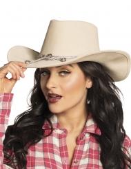 Beige cowboyhatt vuxen