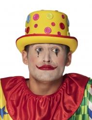 Clownhatt med knappar vuxen