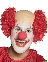 Halvskallig röd clownperuk