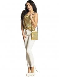 Handväska med guldpaljetter