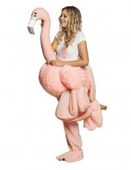 Flamingodräkt ryttare vuxen
