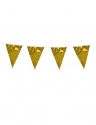 Girlang med guldfärgade fanor 3 m