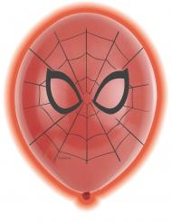 5 Spiderman™ LED-latexballonger 28 cm