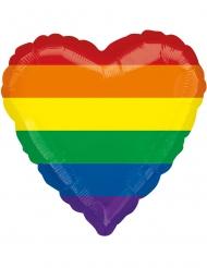 Hjärtformad regnbågsballong