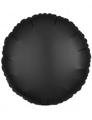Svart rund aluminiumballong 43 cm