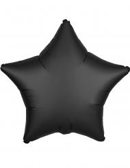 Stjärnformad svart aluminiumballong 43 cm