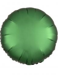 Rund grön aluminiumballong 43 cm
