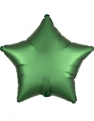 Stjärnformad grön aluminiumballong 43 cm