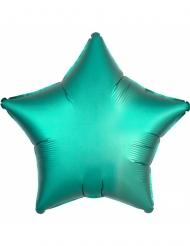 Mintgrön stjärnformad aluminiumballong 43 cm