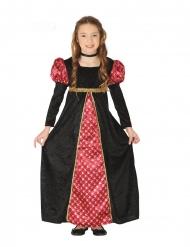 Svart medeltida drottningdräkt barn