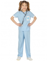 Veterinären Vehembla blå barndräkt