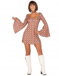 Fräcka Faye - Discoklänning med rutor för vuxna