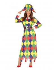 Clownen Daisy - Maskeradkläder för vuxna