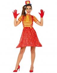 Clownen Happy - Färggranna maskeradkläder för vuxna