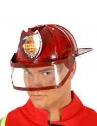 Röd brandmanshjälm vuxen