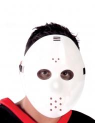 Vit hockeymask i vuxenstorlek
