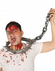 Tortyrhalsband med hänglås 80 cm