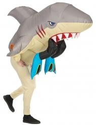 Uppblåsbar hajattacksdräkt vuxen