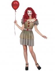 Läbbig clowndräkt dam