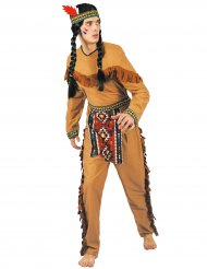 Brun indiandräkt i herrstorlek