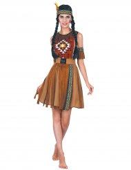 Indiansk klänning med fransar