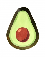 8 gröna Avocado-tallrikar 25 cm