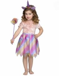Enhörningsdräkt med randig ballerinakjol barn