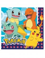 16 Pokemon™ pappersservetter 33x33 cm