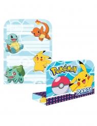 8 Pokémon™ inbjudningskort & kuvert