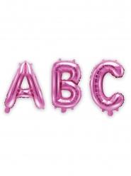 Bokstav rosa aluminiumballong 35 cm