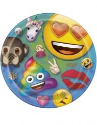 8 Emoji Rainbow™ papptallrikar 18 cm