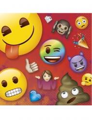 16 Emoji Rainbow™ pappersservetter