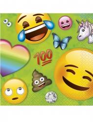 16 Emoji Rainbow™ pappersservetter 25x25 cm