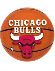 8 Chicago Bulls™ små papptallrikar 18 cm