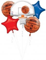5 NBA Spalding™ aluminiumballonger