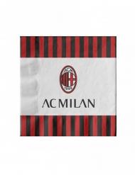 20 AC Milan™ pappersservetter 33x33 cm