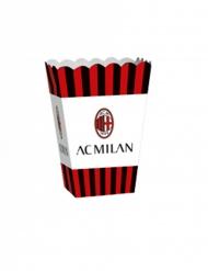 4 AC Milan™ popcornlådor 13,5x8,5x19 cm
