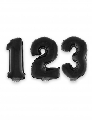 Sifferballong 40 cm - svart