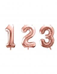 Sifferballong roséguld 86 cm