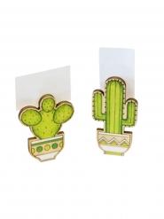 2 bordsmarkörer med kaktusar 6x3x1,5 cm