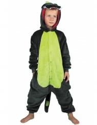 Grön dinosauriedräkt barn