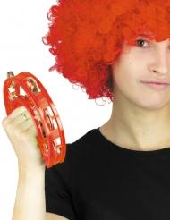 Röd tamburin 40 cm