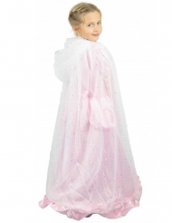 Prinsessmantel vit/silver barn