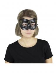Steampunk mask svart vuxen