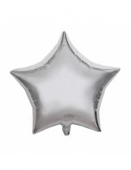 Aluminiumballong silverstjärna 40 cm
